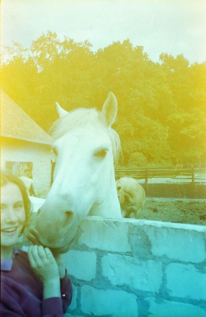 Glückliches Pferdemädchen (nicht ich)