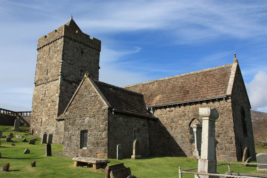 St. Clements Church in Rodel, Schottland