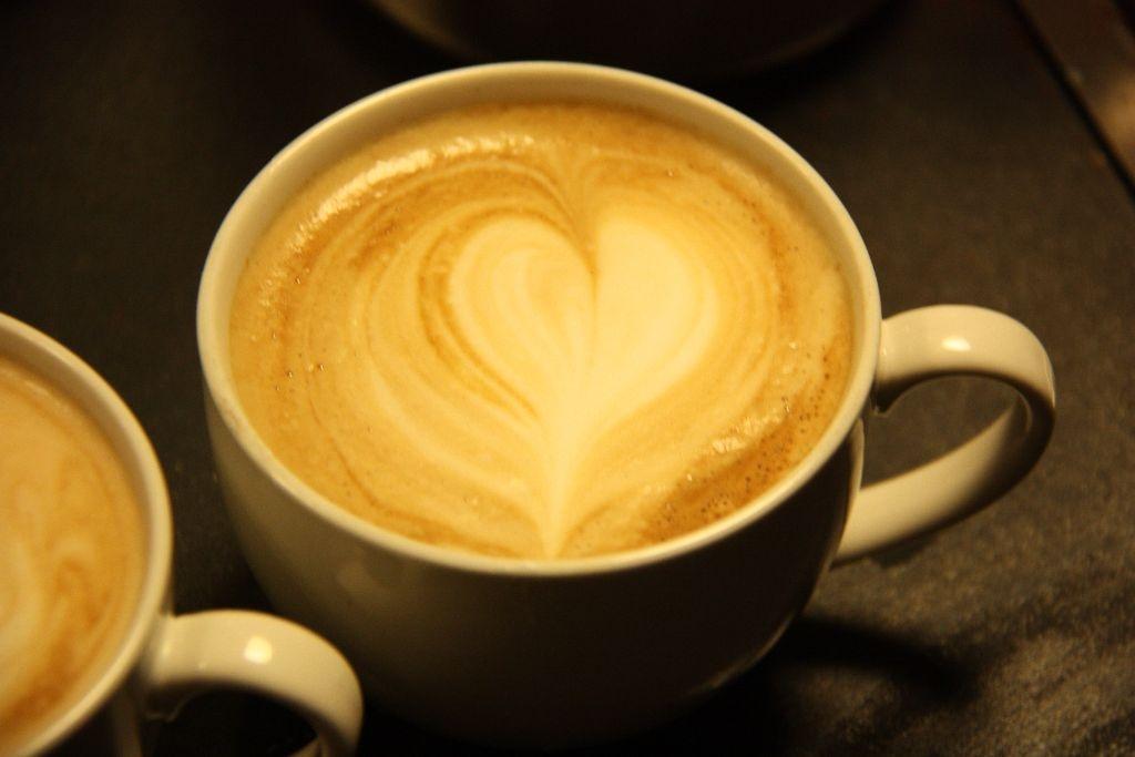 herz im kaffee