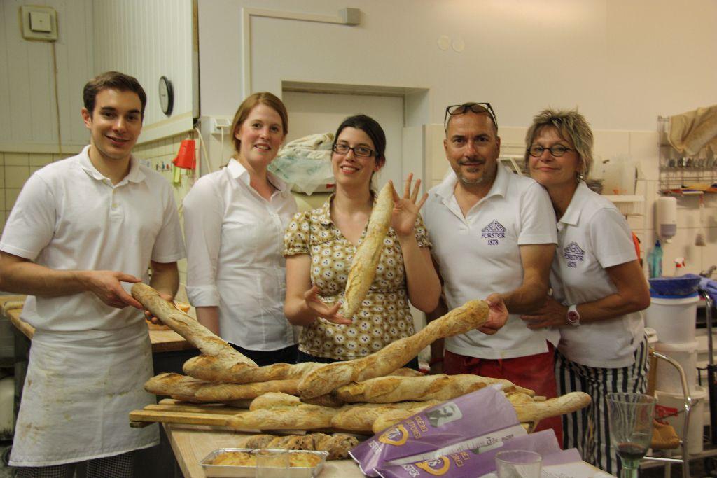 Anne, Familie Förster, ein Haufen Baguettes und ich