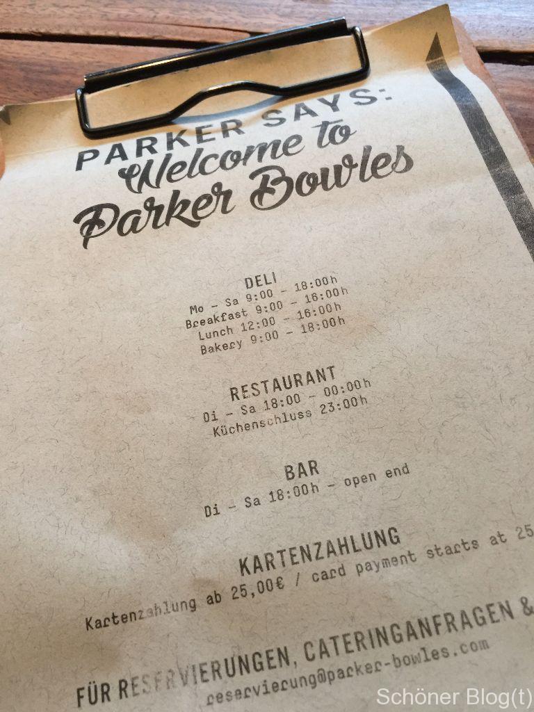 Parker Bowles - Speisekarte - Schöner Blog(t)